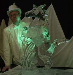 Laurent Godon Sculpteur sur glace Mont-Tremblant